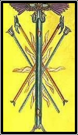 Salem Tarot - Five of Wands