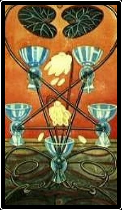 Salem Tarot - Five of Chalices