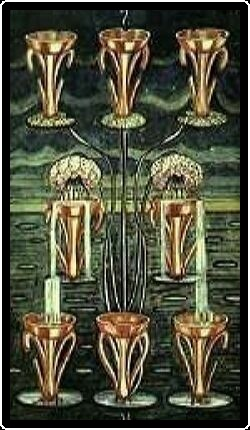 Salem Tarot - Eight of Chalices