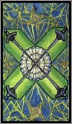 Salem Tarot - Four of Athames