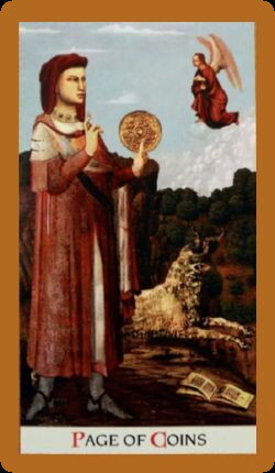 74-Page of Pentacles Upright Rider Waite Work Tarot Reading