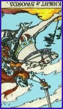 61-Knight of Swords Reversed Rider Waite Love Tarot Reading
